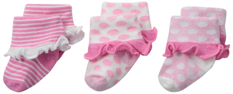 Jefferies Socks Unisex-Baby Newborn Baby Turn Cuff Socks 3 Pair Pack 2366