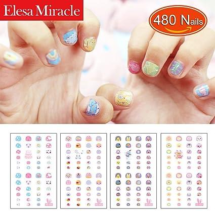 Amazon Elesa Miracle Kids Nail Stickers For Little Girl Nirl