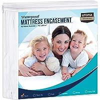 Utopia Bedding Zippered Mattress Encasement Twin, 100% Waterproof Mattress Protector, Absorbent, Six-Sided Mattress…