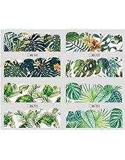 oce180anylv 1 hojas 12 Designs hojas flores agua Transfer Nail Art Pegatinas Manicura Pegatinas