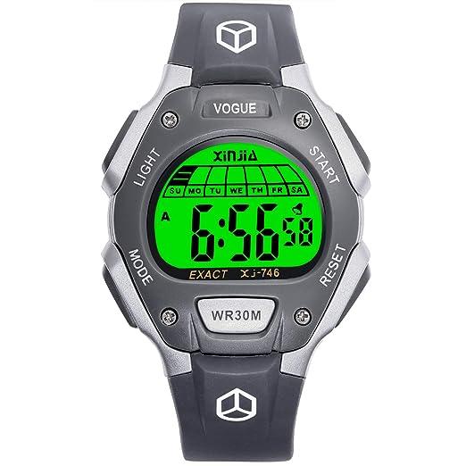 Reloj Digital Juvenil, para niñas, Resistente al Agua, Reloj Deportivo Digital (Pequeño