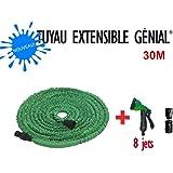 Nouveau Tuyau extensible Génial 30 M + Pistolet 8 jets + 2 Joints + Embouts Raccord Universel de Génial GARDEN by GREENTECH