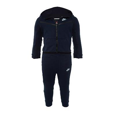 NIKE Tech Fleece 2 Piece Sweatsuit Obsidian Blue Baby Size 12-18 Months  66B400 a3f86824827f
