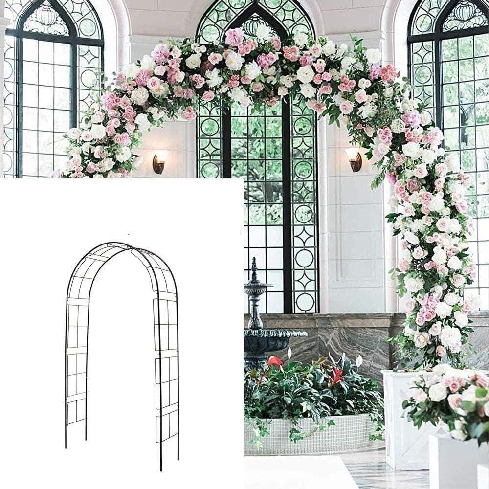 JIADUOBAO -R Arco de metal para jardín, cenador de jardín de ...