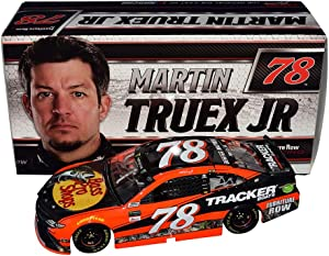 2X AUTOGRAPHED 2017 Martin Truex Jr. & Cole Pearn #78 Bass Pro Shops CHAMPIONSHIP SEASON (Furniture Row Racing) Monster Cup Signed Lionel 1/24 NASCAR Diecast Car with COA (#266 of only 685 produced)