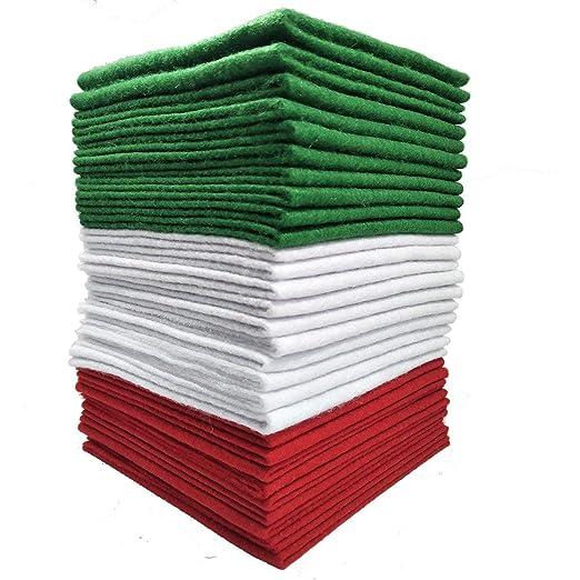 YXJDWEI Tela De Fieltro De 30 Piezas (12x12)  Colores ...