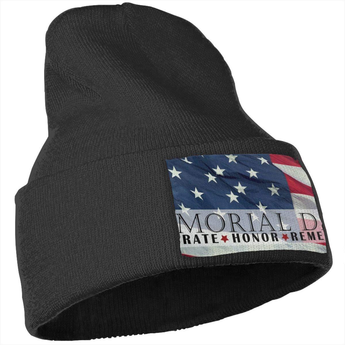 Veterans Day American Flag Memorial Day Skull Cap Men Women Knit Hats Stretchy /& Soft Beanie
