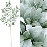 """Supla 45"""" Tall Artificial Silk Lambs Ear Leaf Spray in Silver Green 102 Pcs Leaves Artificial Greenery Holiday Greens Christmas Greenery Artificial Plants Wedding Bouquet Green Leaf Floral Arrangement"""