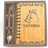 New Fashion Notebook Gift Box Creative Resin Decoration Staionary Set Totoro Notebook and Pen One Piece Notebook Set for Collectors (Totoro set) by Jolly Girl