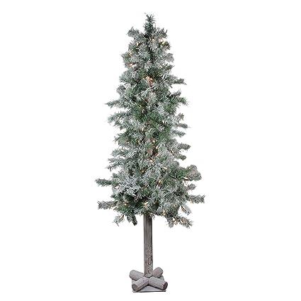 e42e2318346b5 Northlight 5  Lightly Flocked Glittered Woodland Alpine Artificial  Christmas Tree - Clear Lights
