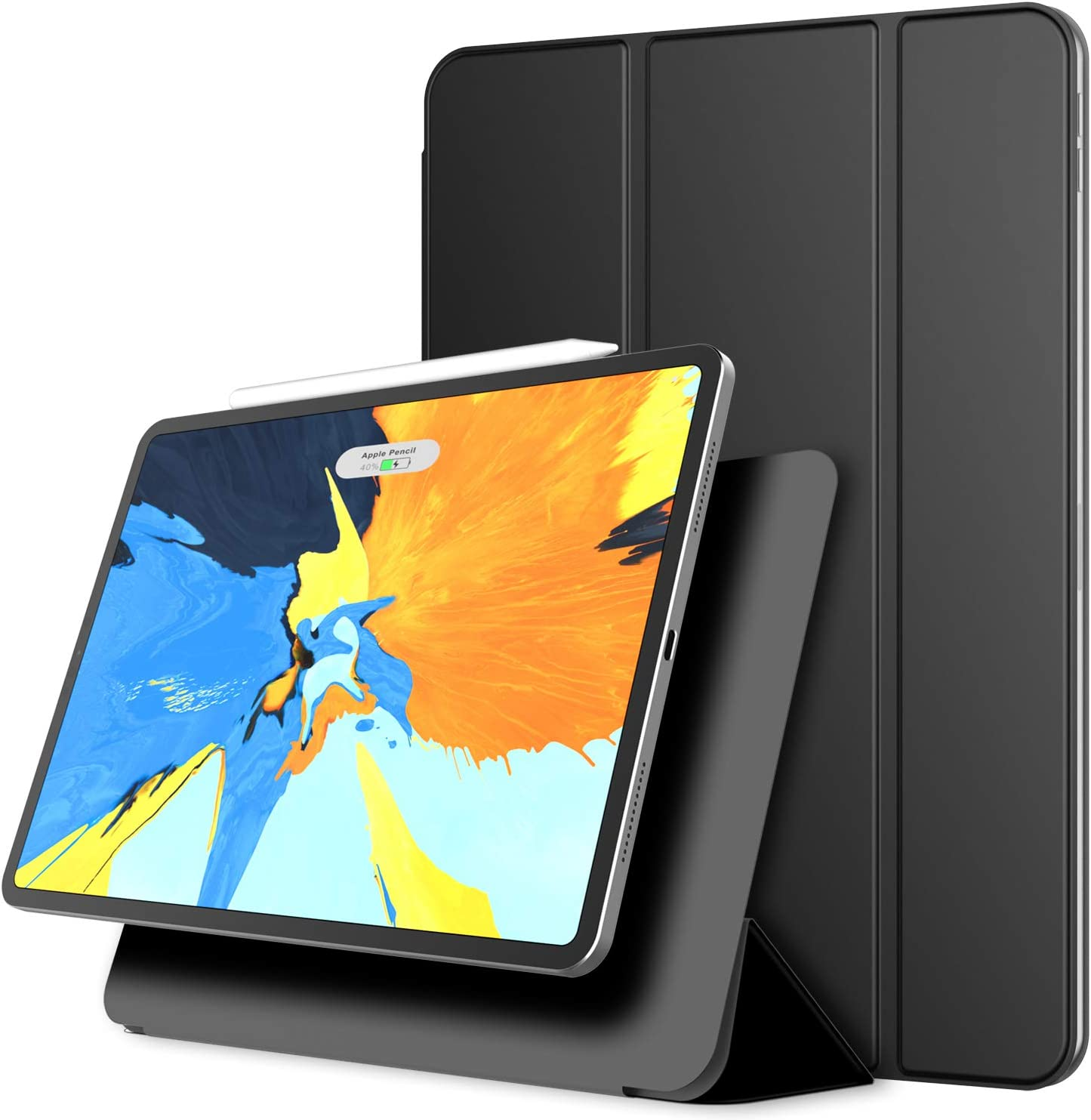 JETech Magnetic Case for iPad Pro 11 Inch 2018 Model (NOT for 2020 Model), Support Pencil 2nd Generation Charging, Magnetic Attachment, Cover with Auto Wake/Sleep