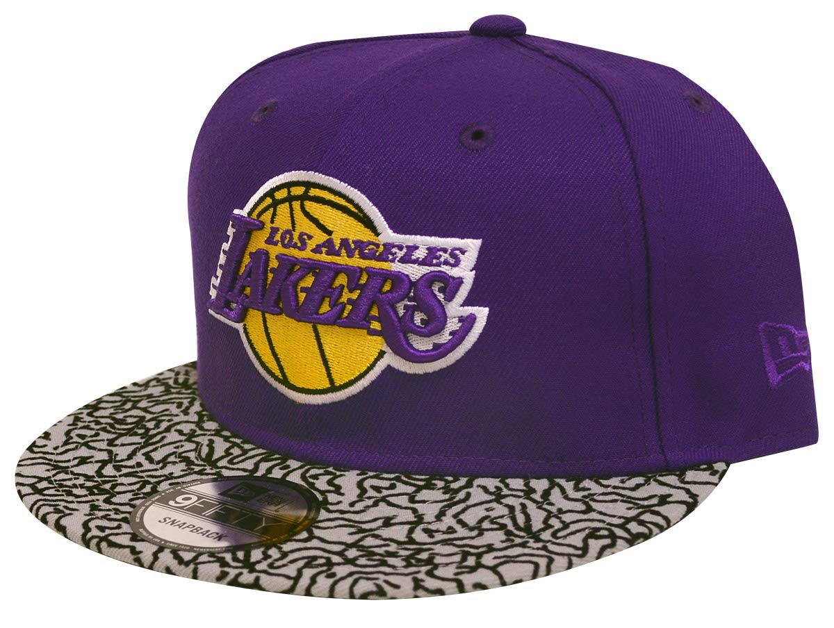 Amazon.com   New Era Los Angeles Lakers Custom Collection 9Fifty Snapback  Hat (Purple Eleprint)   Sports   Outdoors 95bf27dc715