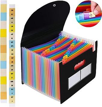 BLUE 26 Pocket Expanding File  A4 File Organiser