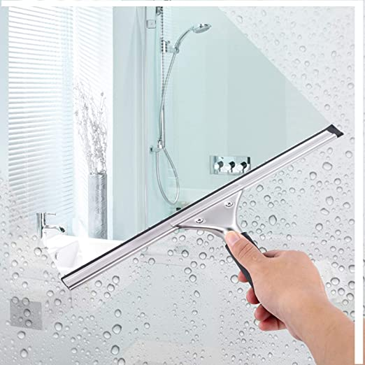 10 Her Kindness Professional Window Cleaning Equipment Glass Rubber Stainless Steel Wiper with Blade 25cm Plus Rubber Scraper1 pcs