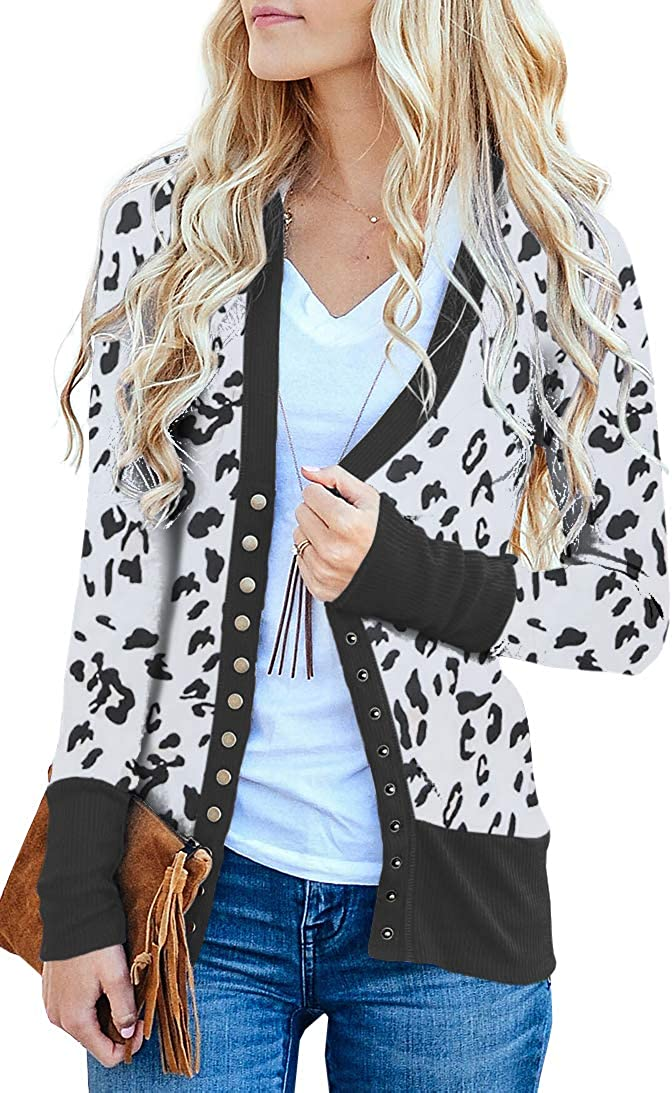 NENONA Women's V-Neck Button Down Knitwear Long Sleeve Soft Basic Knit Cardigan Sweater