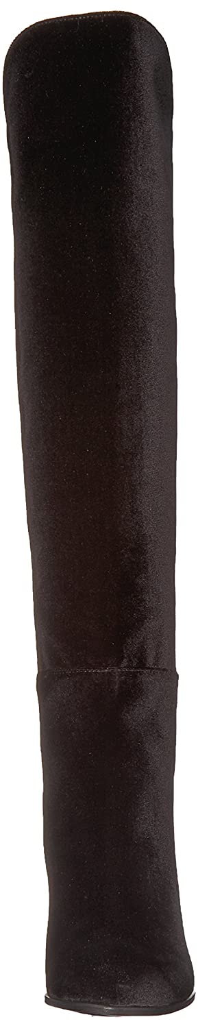 Stuart Weitzman Women's Lowjack Knee High Boot B0747XGV2Z 8 B(M) US|Nero Stretch Velvet