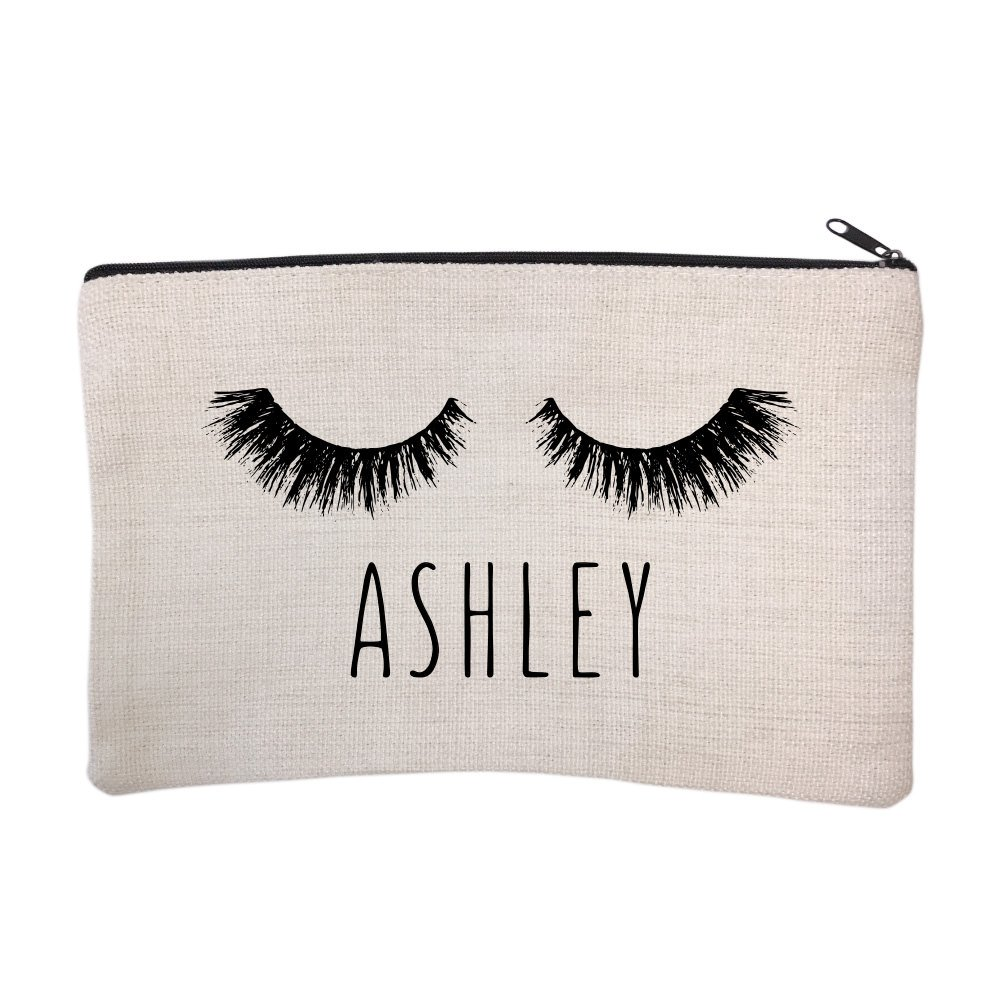 Personalized Eyelash Cosmetic and Makeup Bag