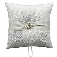 HESHIFENG. party & accessories wedding cuscino anello con fiocco in raso 21cm * 21cm–Ivoy