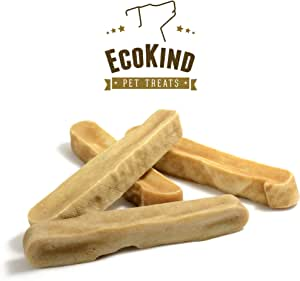 EcoKind Gold Yak Dog Chews   Grade A Quality, 100% Natural, Healthy & Safe for Dogs, Odorless, Approx. 1LB Bag with 3-4 Huge Pieces, Treat for Dogs, Keeps Dogs Busy & Enjoying, Indoors & Outdoor Use