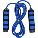 Jump Rope Adjustable for Adult Kids Boys Stocking Stuffers Christmas Girls Gift Toys Sport Fitness(Blue)