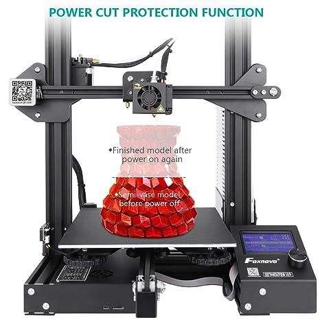 Amazon.com: Foxnovo Ender-3 - Impresora 3D para escritorio ...