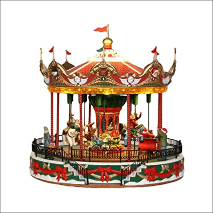 lemax christmas village santa carousel by lemax