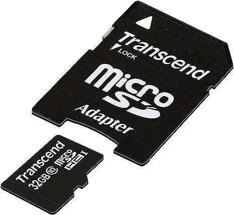 Transcend TS32GUSDHC10E - Tarjeta microSD de 32 GB, Negro