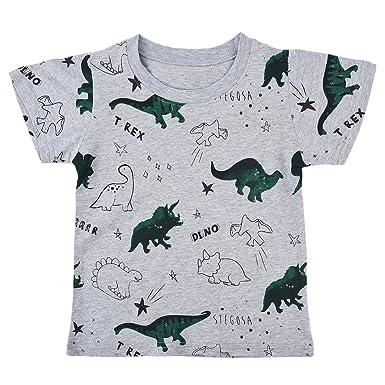 Kinder Langarmshirt Dinosaurier Jungen T-Shirt Baumwolle Top