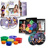 Beachbody 21 Day Fix & 21 Day Fix Extreme - Workout Accessories + Fitness DVDs Bundle, Body Weight Home Workout Planner & Vid