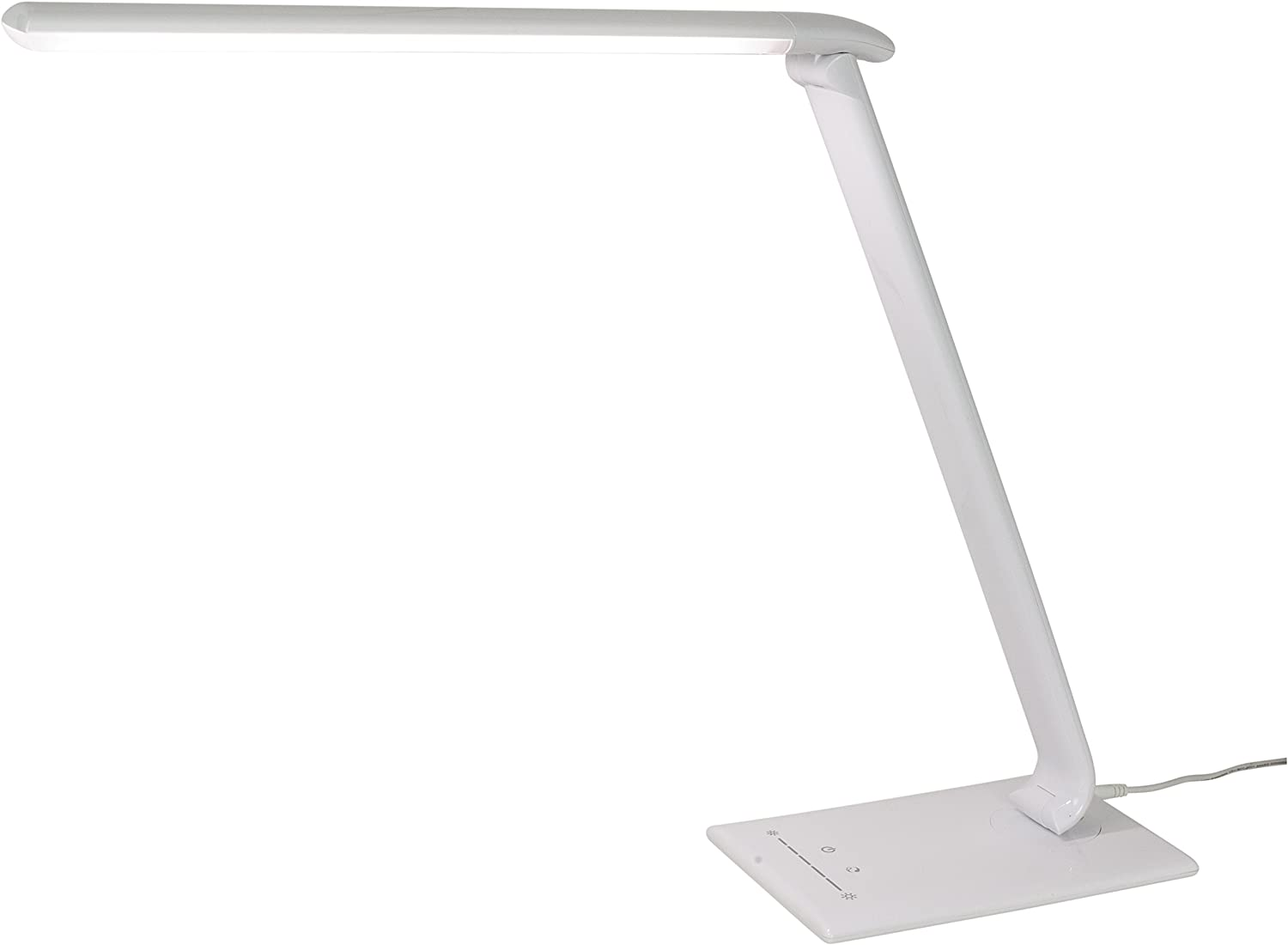 Sunlite 80665 Su Led Desk Lamp 15 Watts 120 Volts Dimmable Touch Panel Controls 4 Color Modes Built In Usb Port White Home Improvement