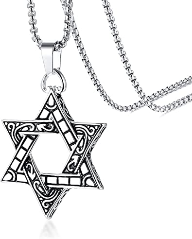 Lucky 13 necklace stainless steel gothic biker necklace