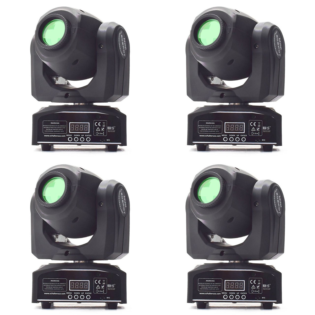 Eyourlife 4Pcs 10W LED Patterns DJ Stage Moving Head Light DMX512 Auto Stop For Club Party Show Lighting by Eyourlife