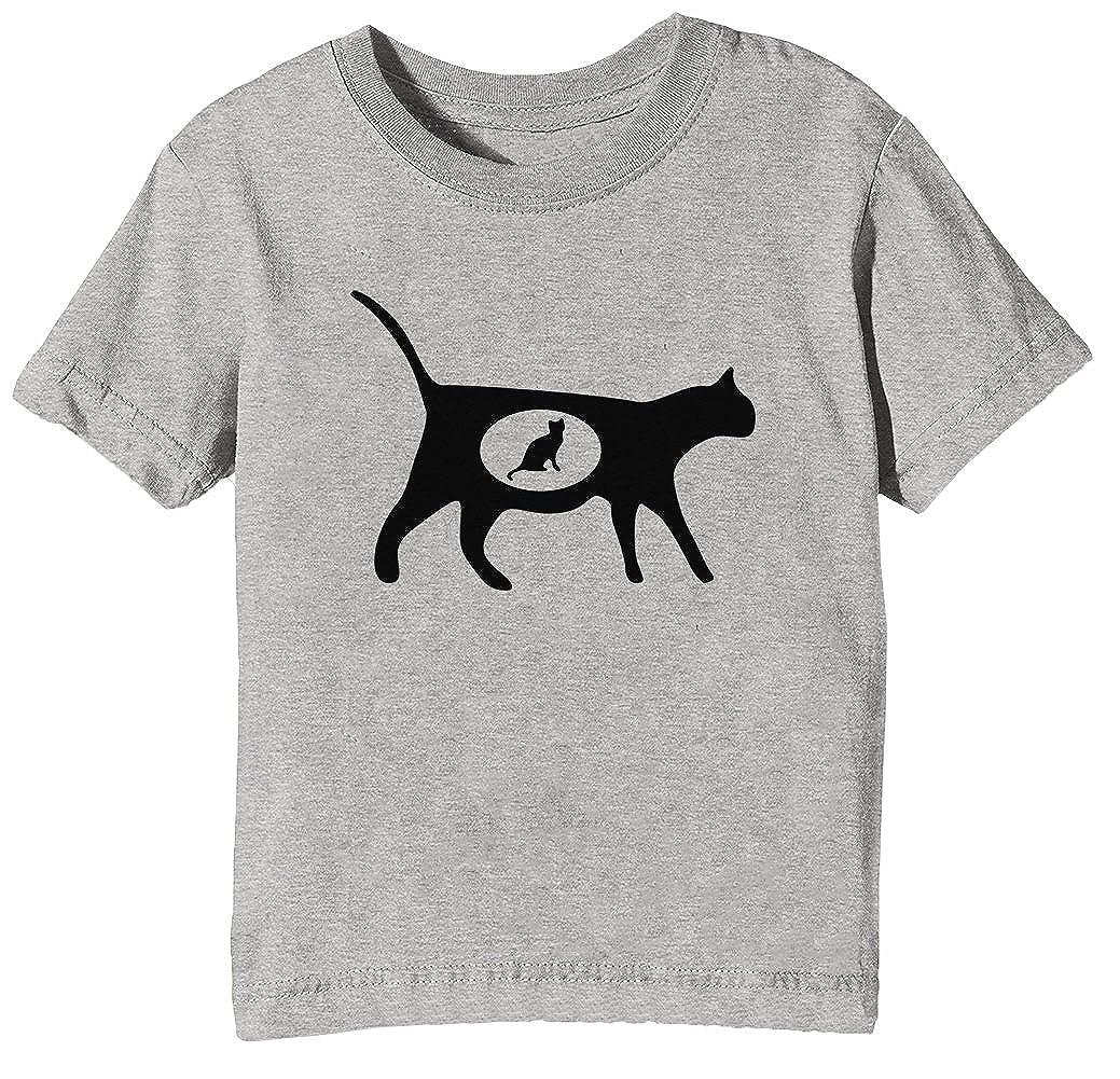 Erido Embarazada Gato Niños Unisexo Niño Niña Camiseta Cuello ...
