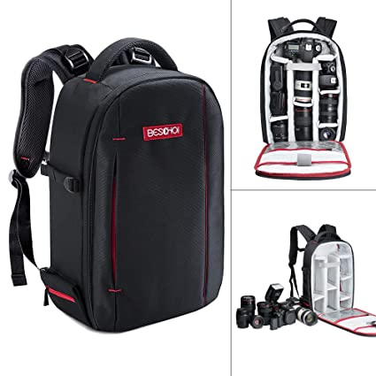 d9a1decab2 Image Unavailable. Image not available for. Color  Beschoi DSLR Camera  Backpack Waterproof Camera Bag ...