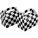 Adorox Set of 24 Checkered Racing Treat Boxes Race Car Theme Party Favors