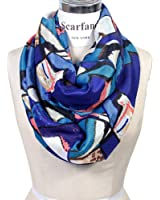 Scarfand's Mixed Color Oil Painting Infinity Scarf
