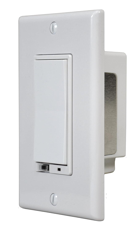 GoControl WD500Z-1 Z-Wave 500-Watt Wall-Mount Dimmer Switch - Wall ...