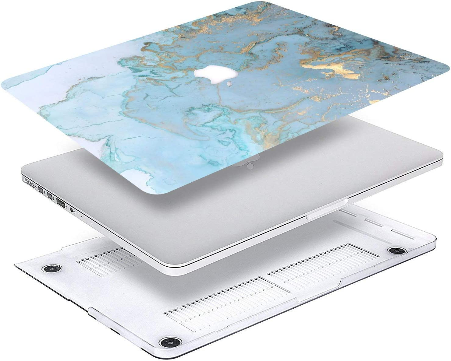 Bleu marbre. A1369//A1466 AQYLQ Coque rigide en plastique mat pour ordinateur portable Apple MacBook Air 13/po//13,3/po Mod/èle A1466 // A1369 751 Fleur violette Macbook Air 13 DL 41
