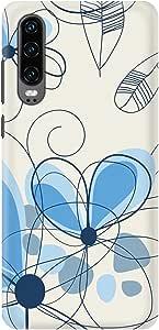 Stylizedd Huawei P30, Slim Snap Basic Case Cover Matte Finish - Daisy Lines