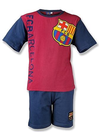 b7e593c1471 FC Barcelona Boys' Pyjama Set Red Red / Blue: Amazon.co.uk: Clothing