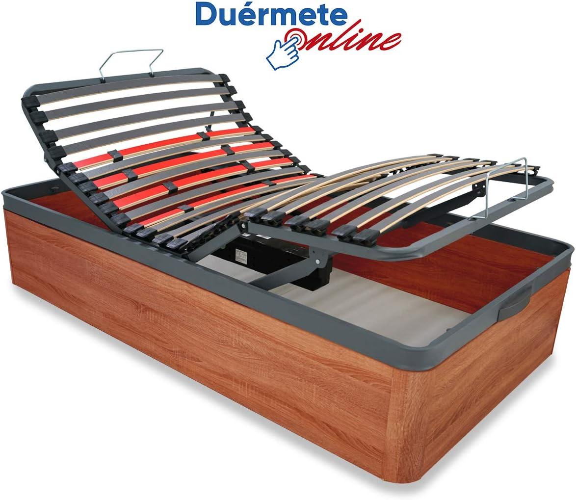 Du/érmete Online Canap/é El/éctrico Articulado Premium Caj/ón Reforzado 30mm con Gran Capacidad Madera 90x190 Mando Inal/ámbrico Color Blanco