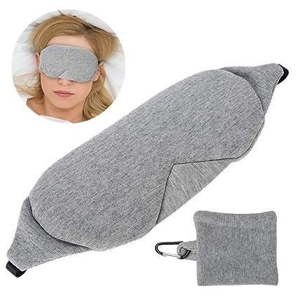 Antifaz para dormir 3D, con contorno, ajustable, transpirable, parche para dormir para