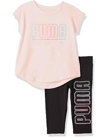 f8baf96f5f54 PUMA Girls  2 Piece Jersey Tee   Capri Set