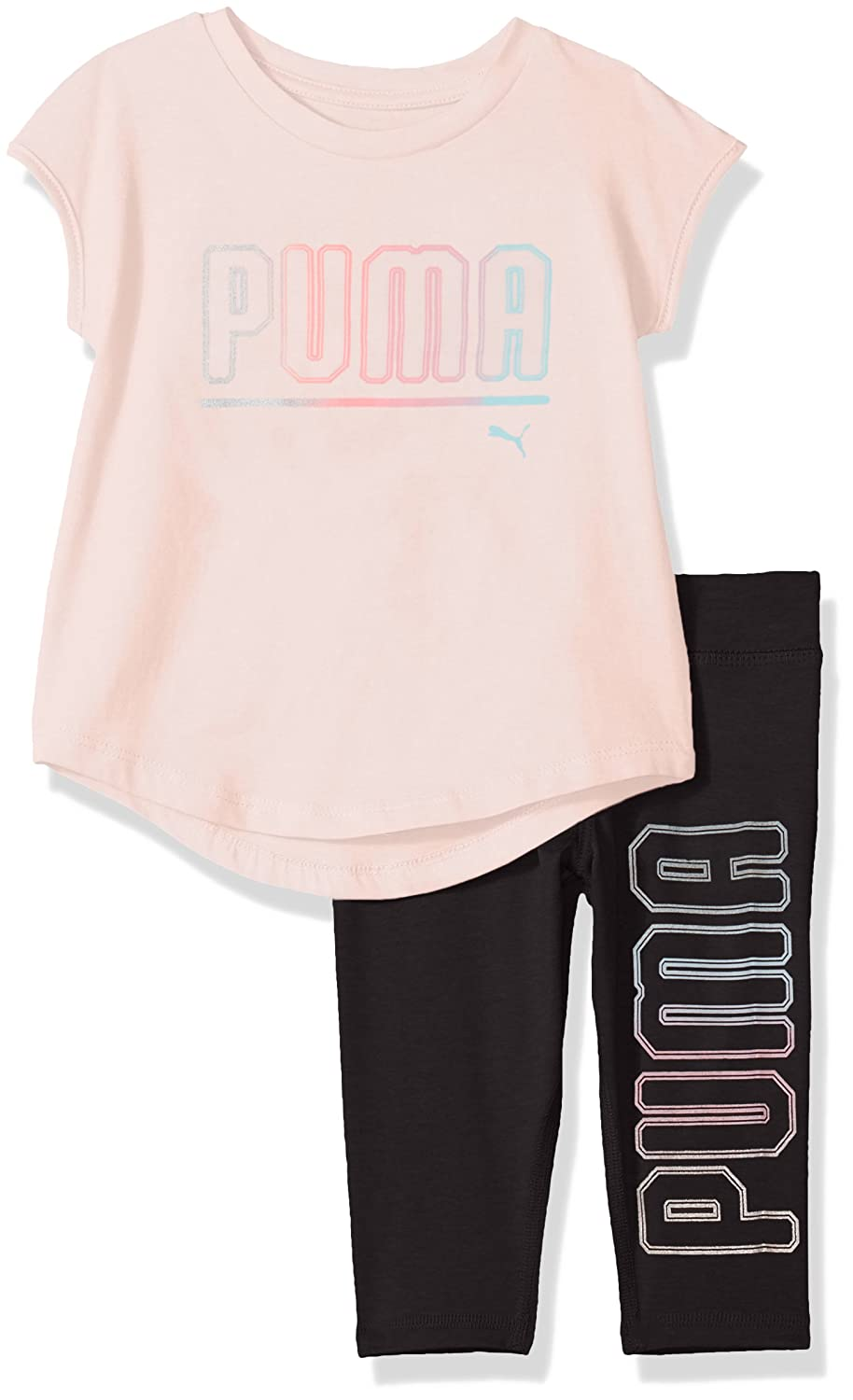PUMA Girls Girls' 2 Piece Jersey Tee & Capri Set