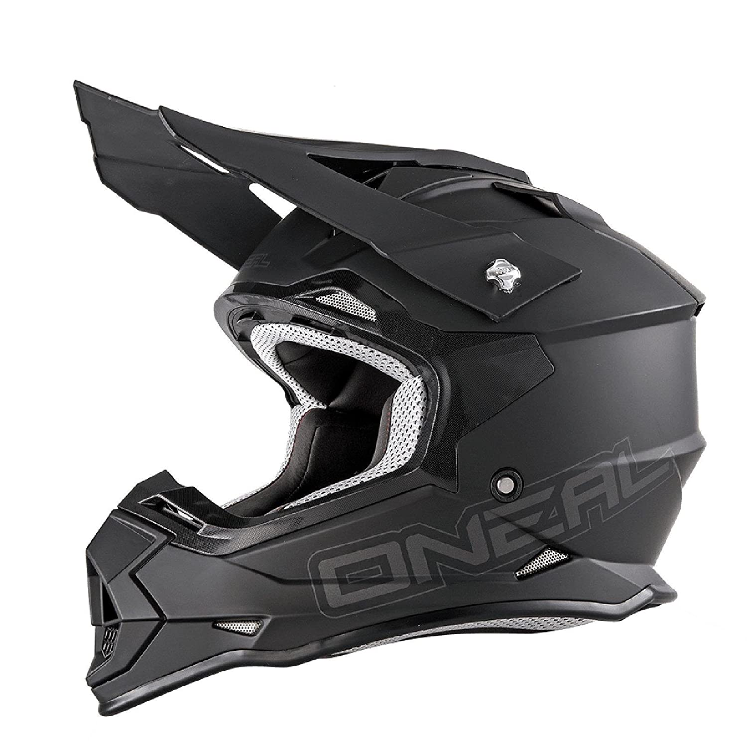 O Neal 2Series RL MX Helm Flat Schwarz Matt Motocross Enduro Quad Cross ABS