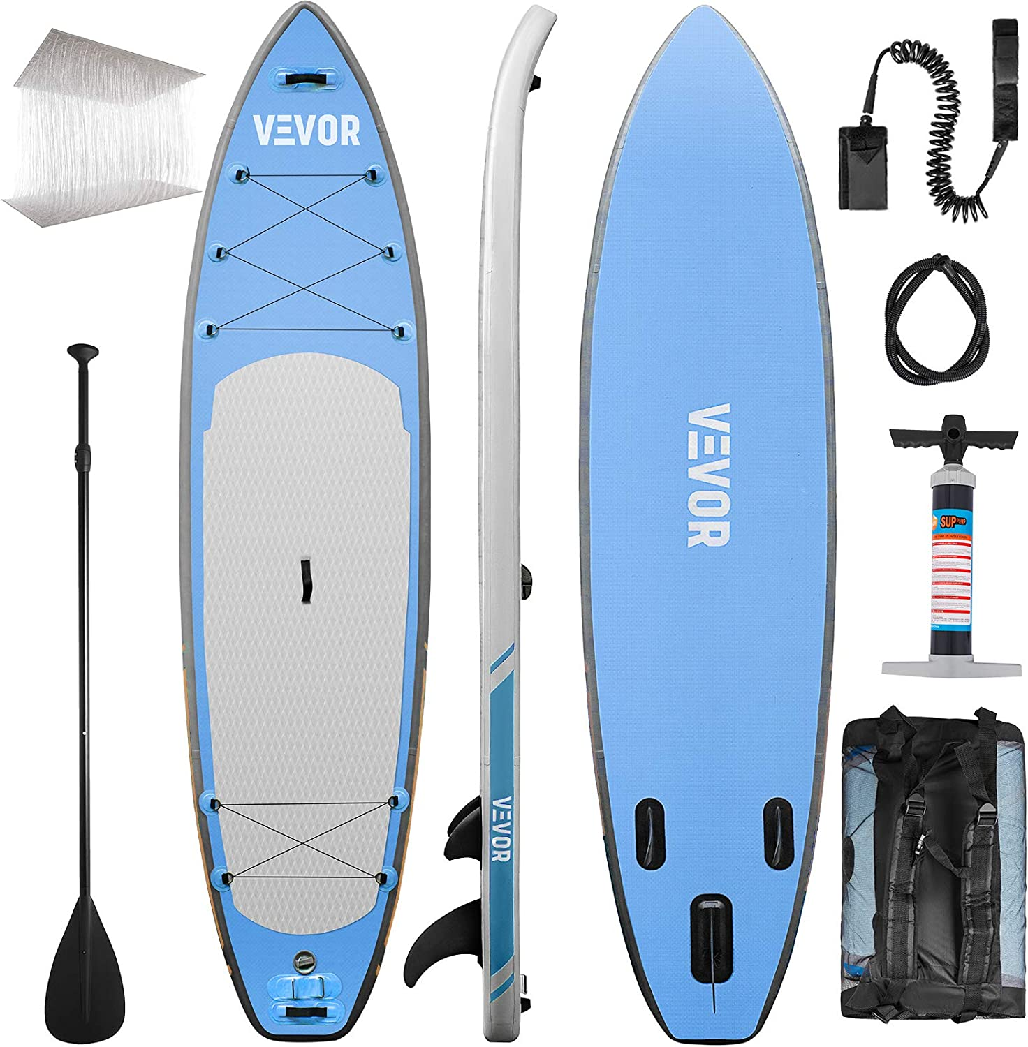 Amazon.com : Happybuy Inflatable Stand Up Paddle Board SUP ...