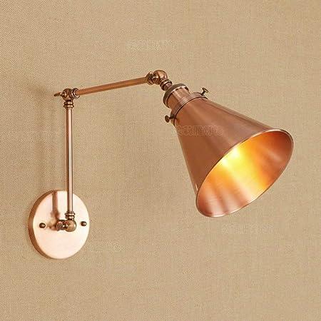 ○ * Lámpara de pared moderna Fácil giratoria Loft Metal Pata ...
