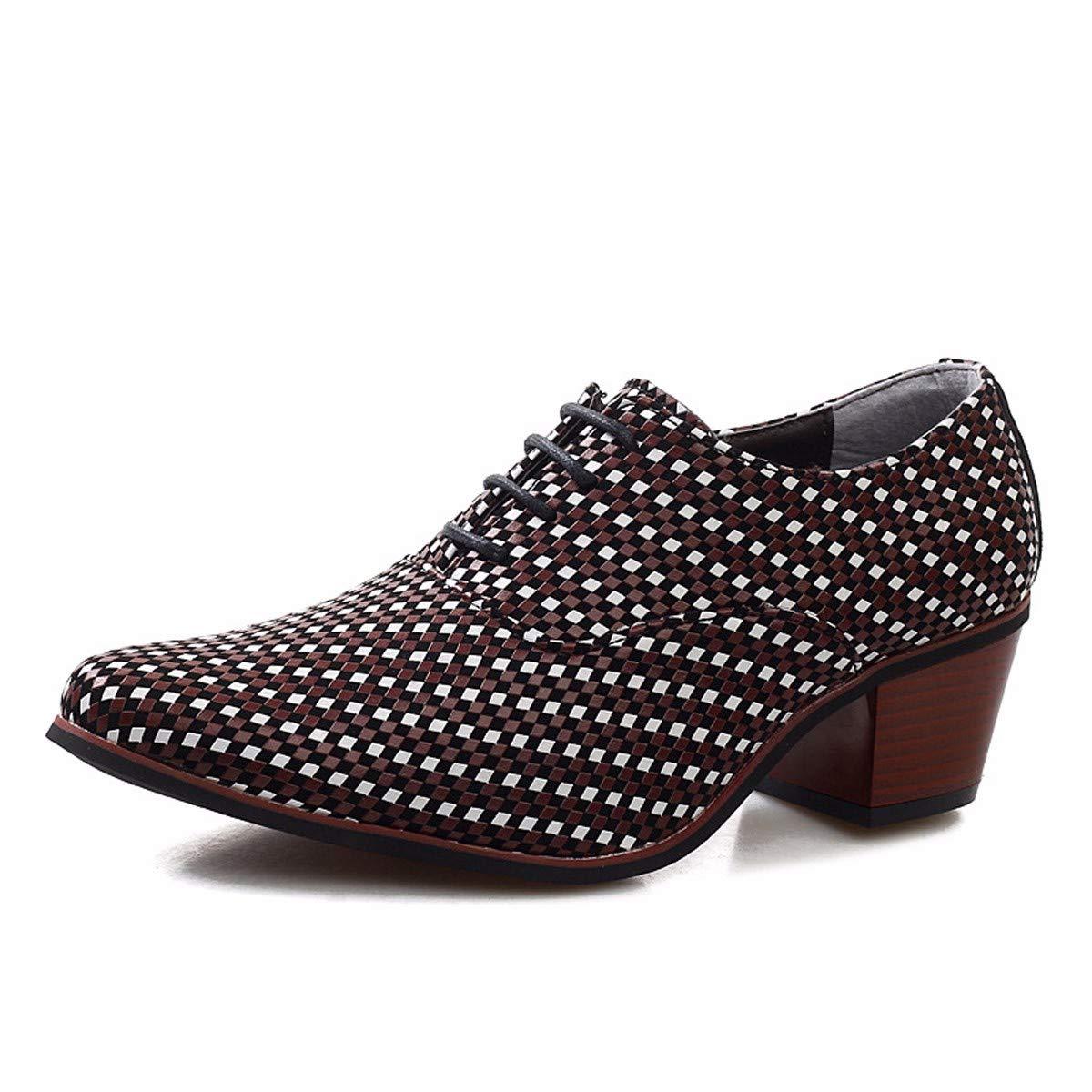 KMJBS-Männer Lässige Schuhe Scharfe Spitzen Flut Schuhe Hairstylists High Heels.Blau 40