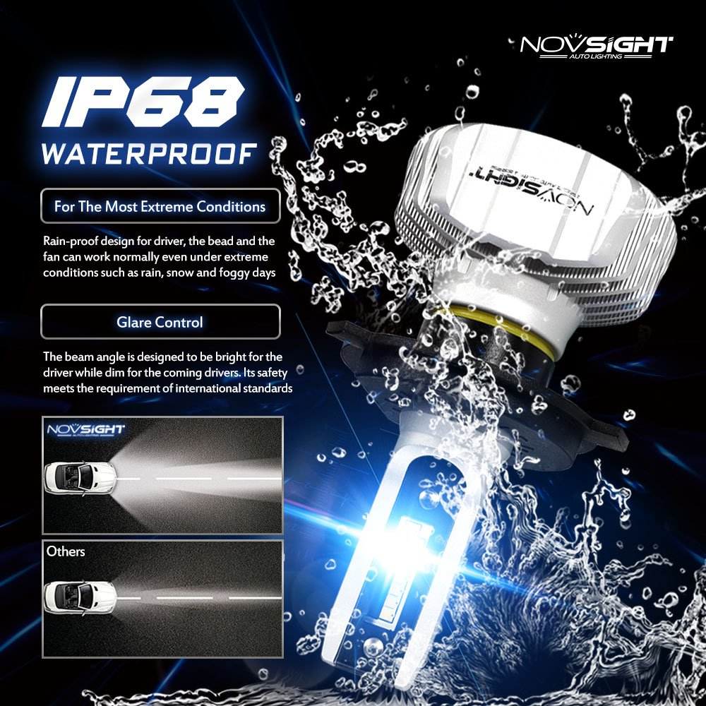 Amazon.com: Car LED Headlight Bulbs Conversion Kits H4 HB2 9003, 50W 10000LM 6500K Cool White IP68 Waterproof All-in-one LED Automotive Lights Bulbs ...
