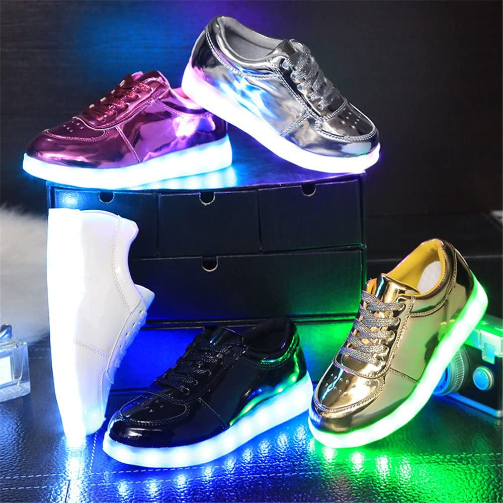 strengths LED Light Up USB Rechargeable Flashing Sneakers for Toddlers Kids Boys Girls